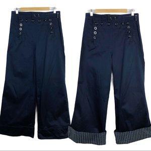 MARC BY MARC JACOBS Wide leg Sailors Navy Pants 8